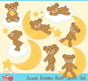 Sweet Dreams Bear Clipart