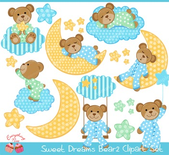 Sweet Dreams Bear 2 Clipart