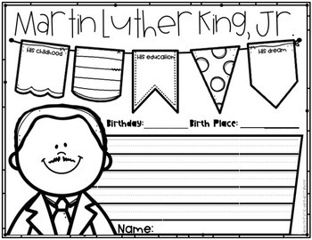 Sweet Dreams {Martin Luther King, Jr. Craftivity in English and Spanish}