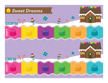 Sweet Dreams long and short ea Phonics Game - Words Their Way Game