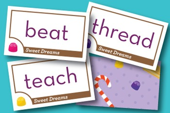 Sweet Dreams long and short vowel ea Phonics Game - Words Their Way Game