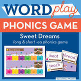 Sweet Dreams long and short vowel ea Phonics Game - Words