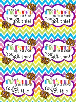 Sweet Encouragement- Testing treats with encouraging notes