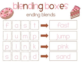 Sweet Endings {ending blends} Word Work