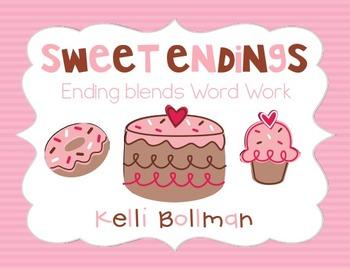 Sweet Endings {ending blends} Word Work