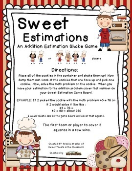 Sweet Estimations~ A 2-Digit Addition Estimation Game