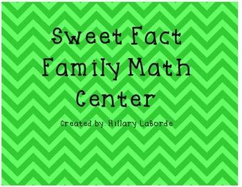 Sweet Fact Family Math Center
