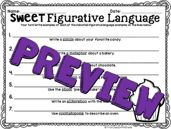 Sweet Figurative Language (Candy Literary Device Unit)