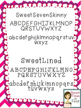 Sweet Fonts: Perfect for Educational Materials {for Personal and Commercial Use}