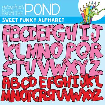 Sweet Funky Alphabet {Clipart}