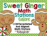 Sweet Ginger Math Stations Galore-11 Stations Differentiated and Aligned