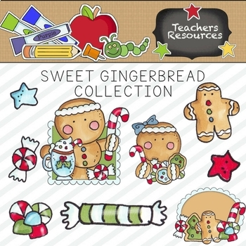 Sweet Gingerbread Clipart Collection ~ Commercial Use*