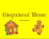 Sweet Gingerbread Theme Math and Literacy