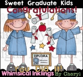 Sweet Graduate Kids Clipart Collection