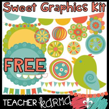 Sweet Graphics Kit - FREEBIE - 18 pcs