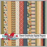 Sweet Gratitude Digital Papers