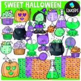 Sweet Halloween Clip Art Set {Educlips Clipart}