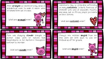 Sweet Heart Context Clues with Common Core Vocabulary