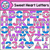 Sweet Heart Letters Clip Art Set - Doodle Patch Designs