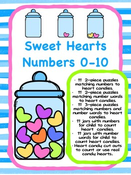 Sweet Heart Numbers - Valentine Counting Fun 0-10 with Conversation Hearts