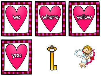 Sweet Heart Sight Word Game (Dolch Pre-Primer)