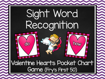 Sweet Heart Sight Word Game (Fry's First 50)