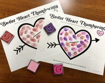 Sweet Heart Thumbprints: A SpeechTherapy Craft Activity