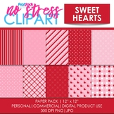 Sweet Hearts Digital Papers