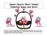 Sweet Hearts Short Vowels Valentine Game and Sorts