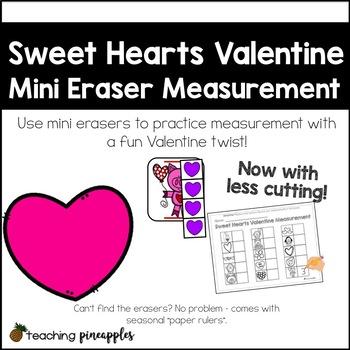 Sweet Hearts Valentine Mini Eraser Measurement