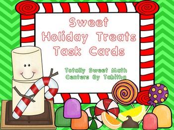 Sweet Holiday Treats Task Cards