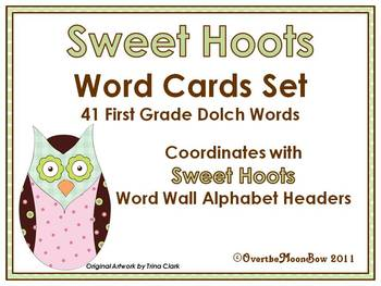 Sweet Hoots Dolch First Grade Word Set