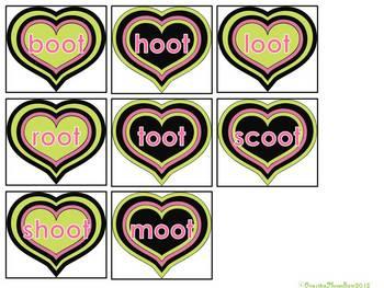 Sweet Hoots -OOT -OOK -OOM -OOP  Word Family Sort Game