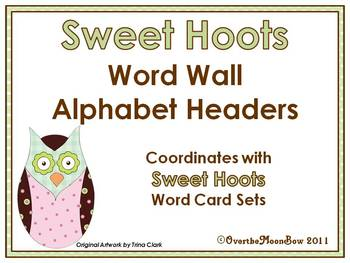 Sweet Hoots Word Wall Alphabet Headers