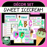 Sweet Icecream Décor Set for Secondary Classrooms– 110+ Signs Posters