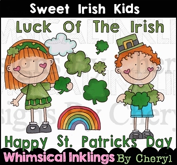 Sweet Irish Kids Clipart Collection