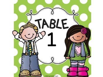 Sweet Kiddos Table Numbers