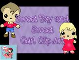 Sweet Kids Clip Art-FREE