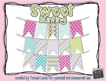 Sweet Large Bunting Banner