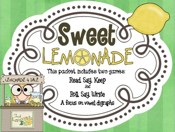 Sweet Lemonade! -  Two Games in One with a Focus on Vowel