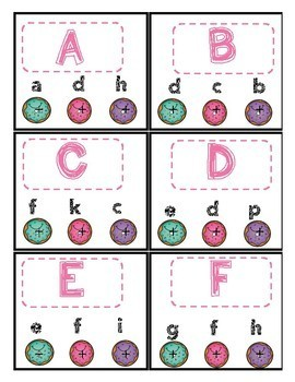 Sweet Letter Match (Uppercase an Lowercase) Donut theme