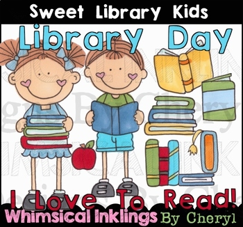 Sweet Library Kids Clipart Collection