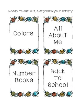 Sweet Library Labels