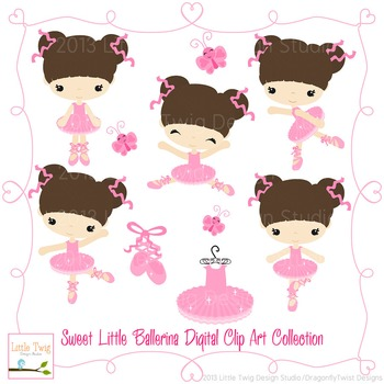 Ballerina Digital clip Art Set