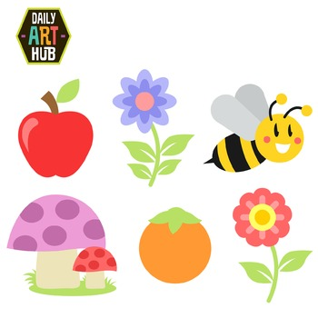 Sweet Little Things Clip Art - Great for Art Class Projects!