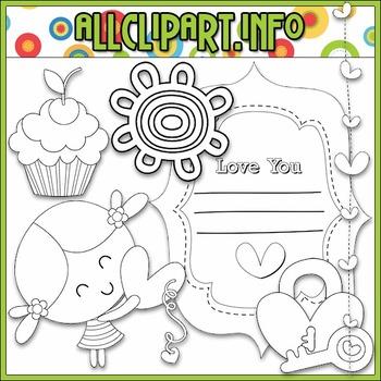BUNDLED SET - Sweet Love Clip Art & Digital Stamp Bundle