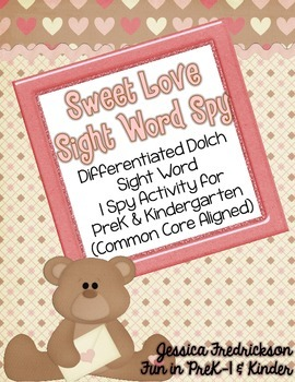 Sweet Love Sight Word Spy: CC Aligned