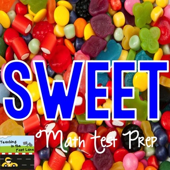 Sweet Math Test Prep Station Sample FREEBIE