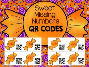 Sweet Missing Numbers with QR Codes 1-100 Sequencing