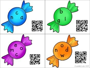 Sweet Mixed Up Sight Words with QR Codes